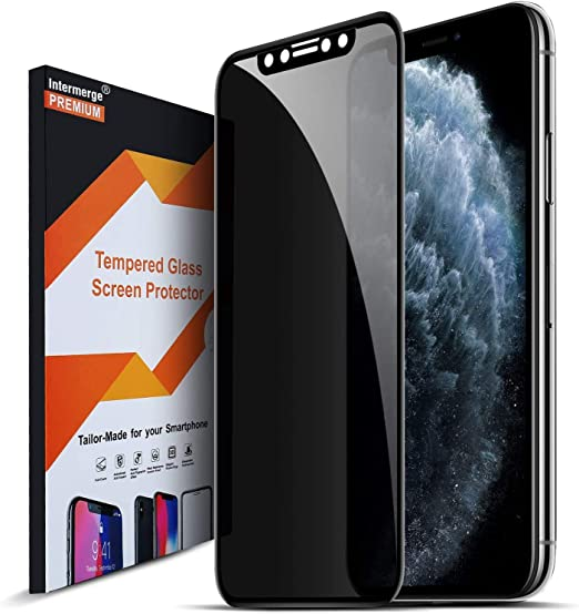 Amazon Com Intermerge Privacy Screen Protector For Iphone Xs X 11 Pro Premium 3d Curved Full Coverage Anti Spy Tempered Glass Screen Protector For Apple Iphone X 2017 Xs 2018 11 Pro 2019 5 8inch