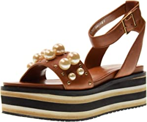ae6bdf05730d Bruno Premi Women s Shoes Sandals with Platform R4500X Cuoio