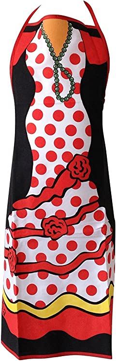 La Señorita Delantal España Flamenco Rosa rojo: Amazon.es: Hogar