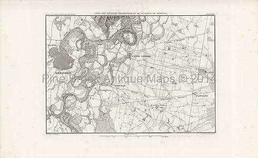 Alessandria Italy Map.Alessandria Italy Antique Map Thiers 1864 Authentic Italian Decor