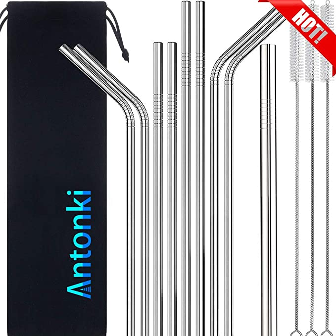 LIGHTENING DEAL! 5 STAR RATED TOP SELLING FUL VARIETY PACK METAL STRAWS