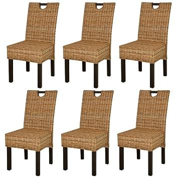 Pleasant Xinglieu Dining Room Chairs 6 Pcs Dining Chair Rattan Mango Machost Co Dining Chair Design Ideas Machostcouk