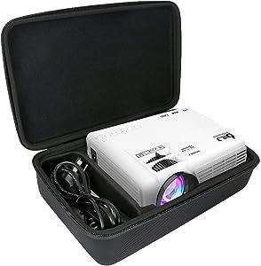 Khanka Hard Travel Case Replacement for DR. J Professional HI-04 1080P Mini Projector (Black)
