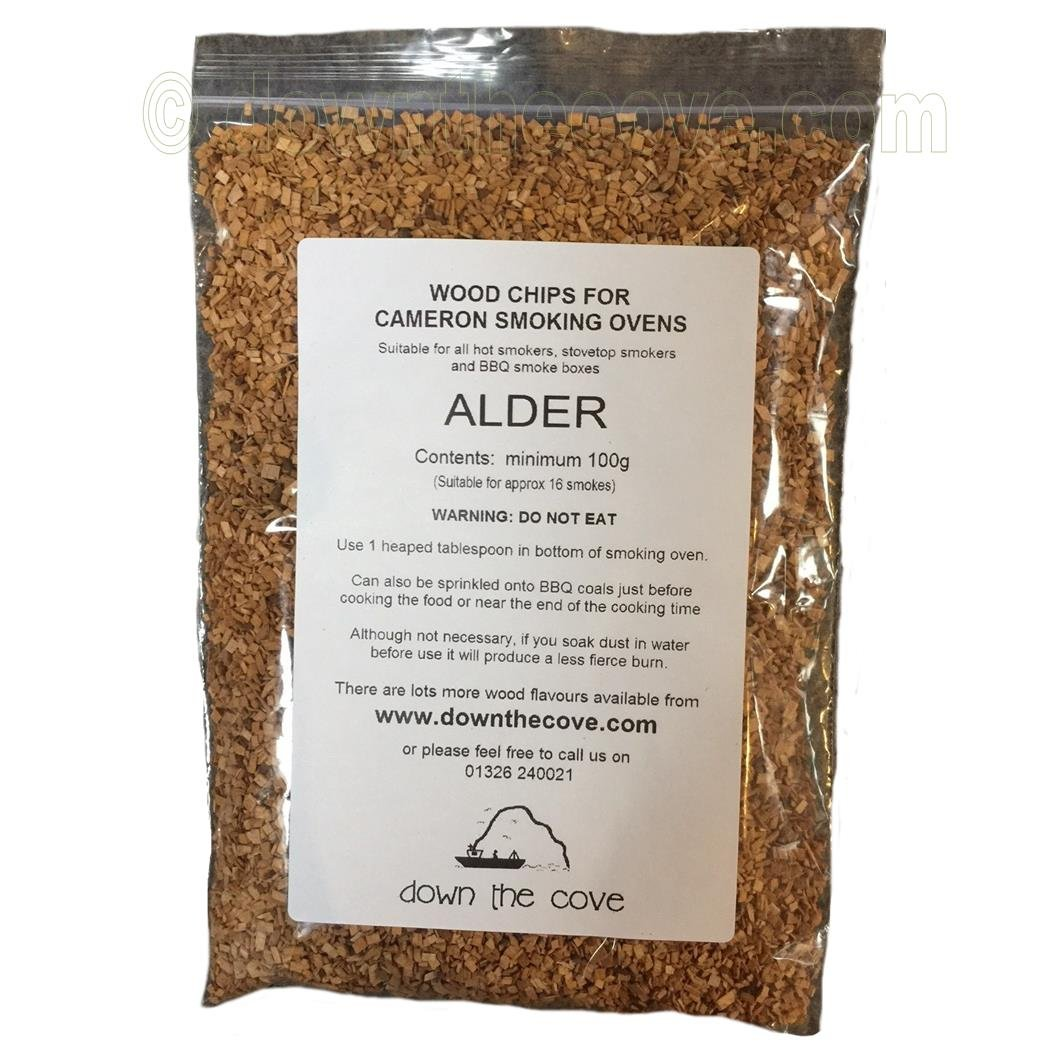 100g Alder Wood Chips / Wood Dust for Hot Smokers / Smoking Ovens / BBQ Various
