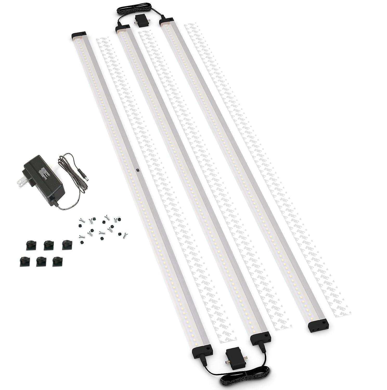 [ New ] ESHINE 3パネル40インチExtra Long LED調光下キャビネット照明キット手波Activated – タッチレス減光コントロール EL10003DW B07BRBSBSD  Warm White (3000K)