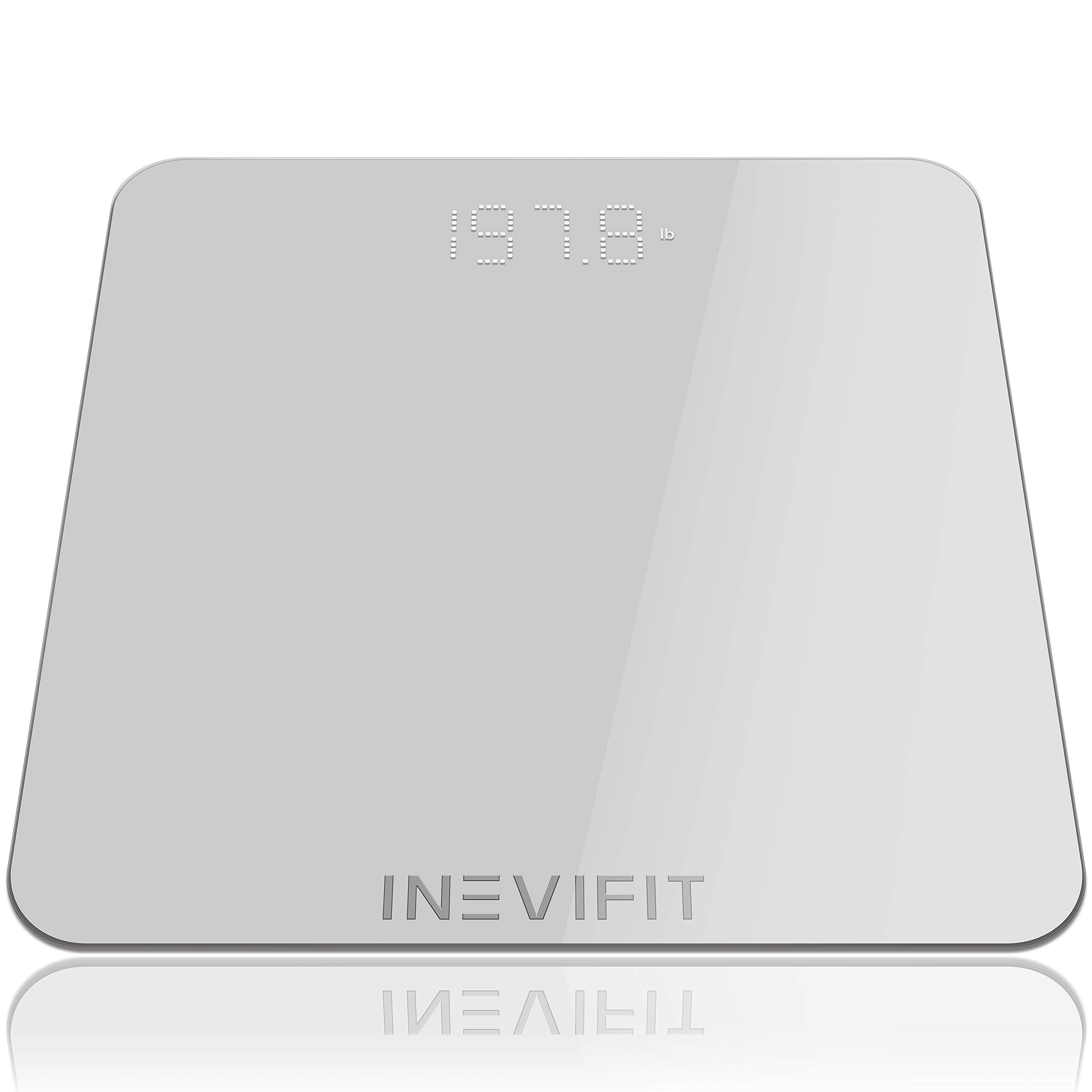 INEVIFIT Bathroom Scale, Highly Accurate Digital Bathroom Body Scale, Measures Weight for Multiple Users. Includes a 5-Year Warranty by INEVIFIT
