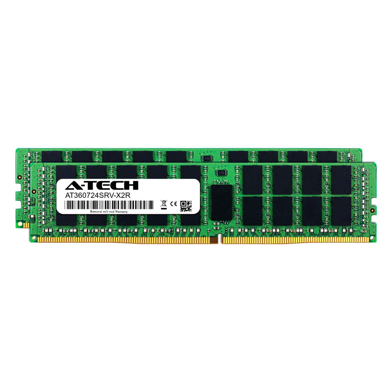AT360724SRV-X1R8 DDR4 PC4-21300 2666Mhz ECC Registered RDIMM 1rx4 Server Memory Ram A-Tech 16GB Module for Intel Xeon E5-2699V3