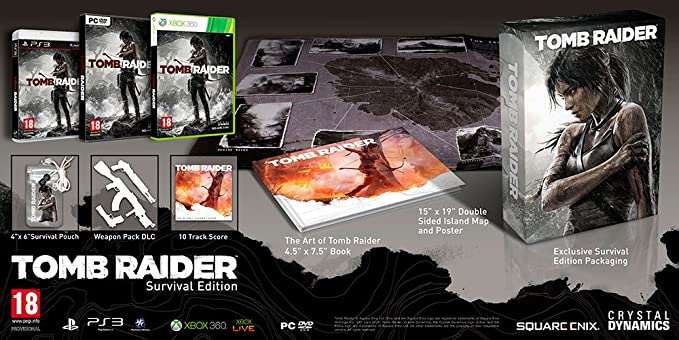 TOMB RAIDER SURVIVAL EDITION XBOX 360: Amazon.es: Videojuegos