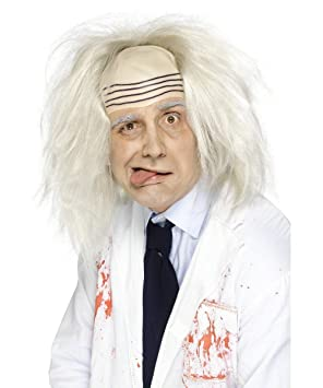 Smiffys Peluca de loco para hombre, ideal para Halloween