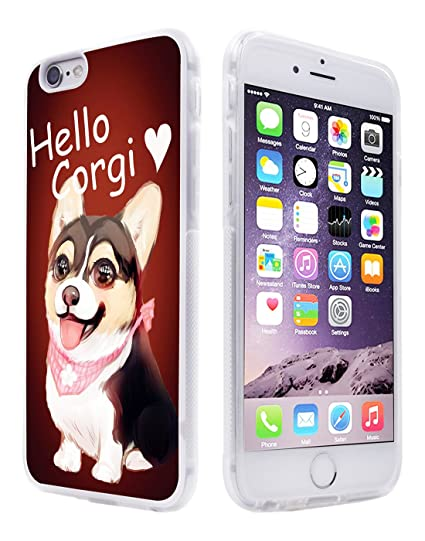 the best attitude 744ef 7836c for iPhone 6S Plus Case Corgi,Gifun [Anti-Slide] and [Drop Protection]  Clear Soft TPU Premium Flexible Protective Case for iPhone 6 Plus & 6S Plus  - ...