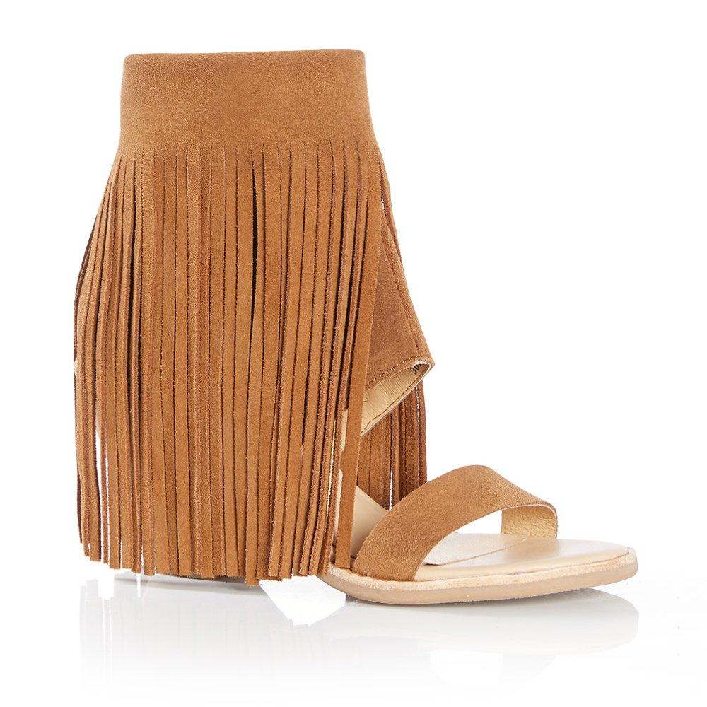 Koolaburra Women's Piaz II Dress Sandal, Chestnut, 7 M US