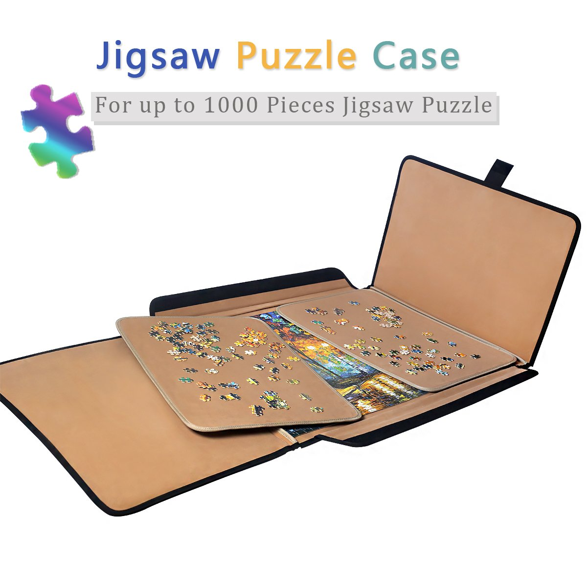 Jigsaw Puzzle case Puzzle Board- Ingooood Easy Move Storage Jigsaw Puzzle mat Work Separate Puzzle Board for up to 1,000 Pieces Durable jigboard by Ingooood