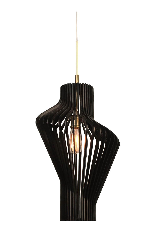 Metallic Bronze Woodbridge Lighting 14023MEB-W1A1WG Canopy Wenge Wood Pendant
