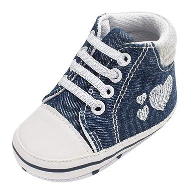 UOMOGO Scarpine in Tela Prima Infanzia Baby Scarpe per Primi Passi con Amare con Amare, Shoes Ciabatte Bimbo 0 18 Mesi 21