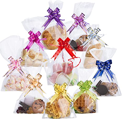 Transparent Open Top Lay Flat Poly Bags Biscuits Candy Packaging Cellophane CB