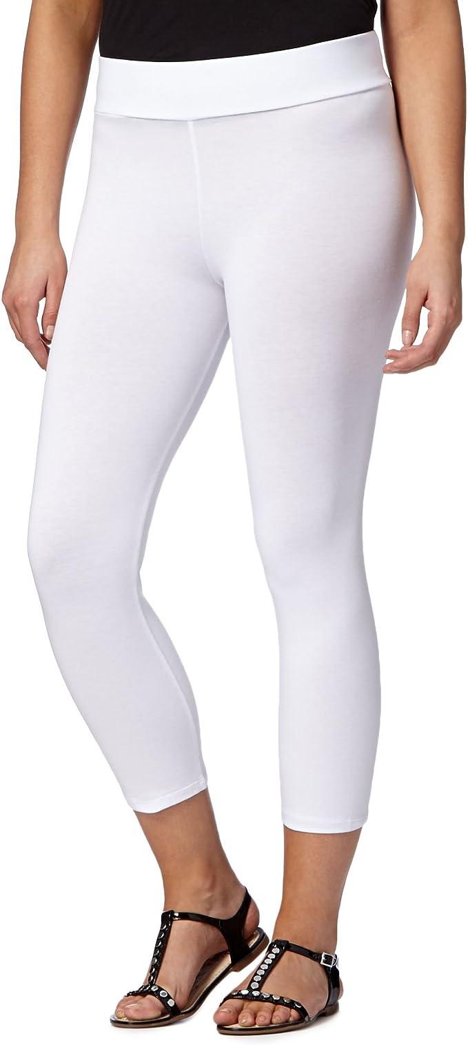 La colección para mujer de algodón blanco pack de Leggings mezcla ...