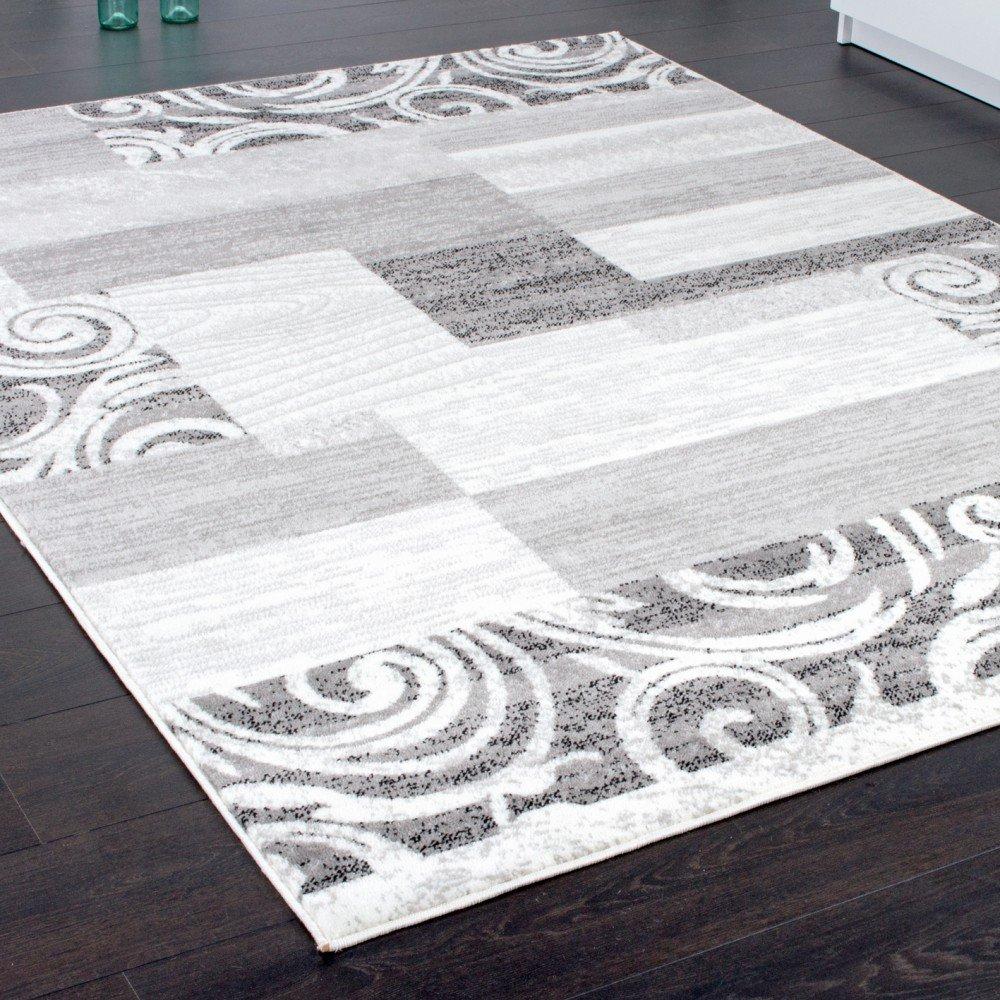 Paco Home Designer Teppich Wohnzimmer Teppich Kurzflor Muster in ...