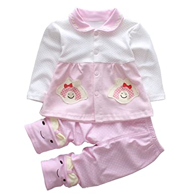 d170f06cffa0 Amazon.com  Trendy Baby Girl Clothes Sets Infant Outfits Toddler ...