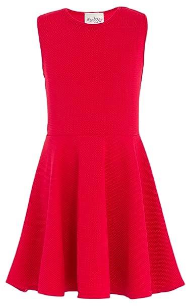 Review Wonder Girl Big Girls' Double Knit Fabric Skater Skirt Dress