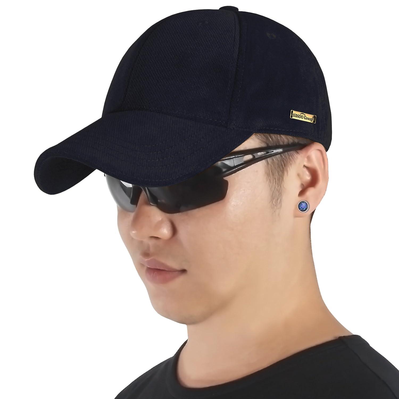 Sidiou Group Berretto nuovo da baseball in autunno   inverno per uomo  Berretto alla moda cappello caldo di cotone   velluto Cappello casuale  all aperto (Blu ... 6a00ad55b35f