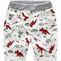 BOBORA Pantalones Cortos Bebe Niño, Pantalones Cortos de Dinosaurio de Verano para Niños de 2-6 años