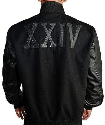 Michael B Jordan Kobe Destroyer XXIV Battle Fleece Jacket with Leather Sleeves