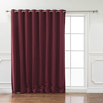 best home fashion wide width flame retardant thermal insulated blackout curtain antique bronze grommet top