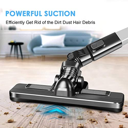 Cordless Vacuum Double Cyclonic Suction Rechargeable Handheld Vacuum Cleaner Multifunctional 9 Attachments for Home Car Cleaning