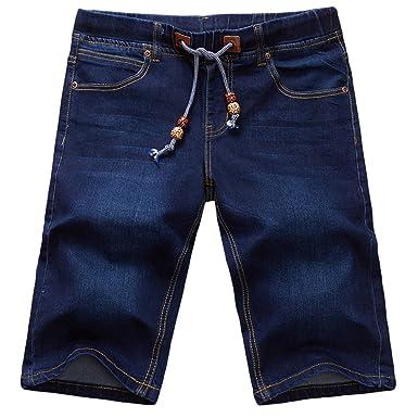 Heheja Homme Couleur Pure Jeans Short Loisir Été Loose Denim Pantalon Court  comme Image 28 de183c696f1