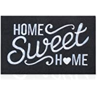 Black Welcome Mat Outdoor with Non Slip Rubber Backing Embroidery Weaving Home Sweet Home Indoor Doormat Absorb Mud High…