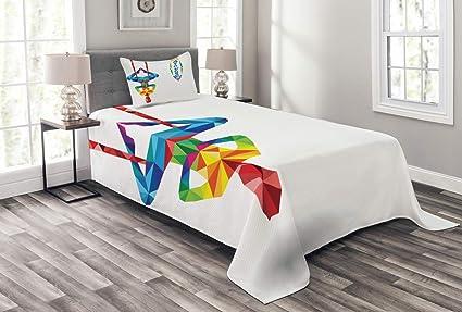 Amazon.com: Ambesonne Yoga Bedspread, Aerial Aero Anti ...