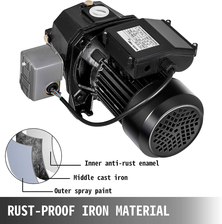 3//4 HP Shallow Well Jet Pump w// Pressure Switch 550W Heavy Duty Garden Pump