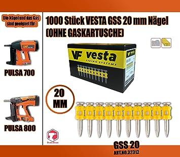 500x SPIT PULSA 700 800 1000 N/ägel 15//20//25//30//35//40mm Direkt Befestigung 15mm C6-15