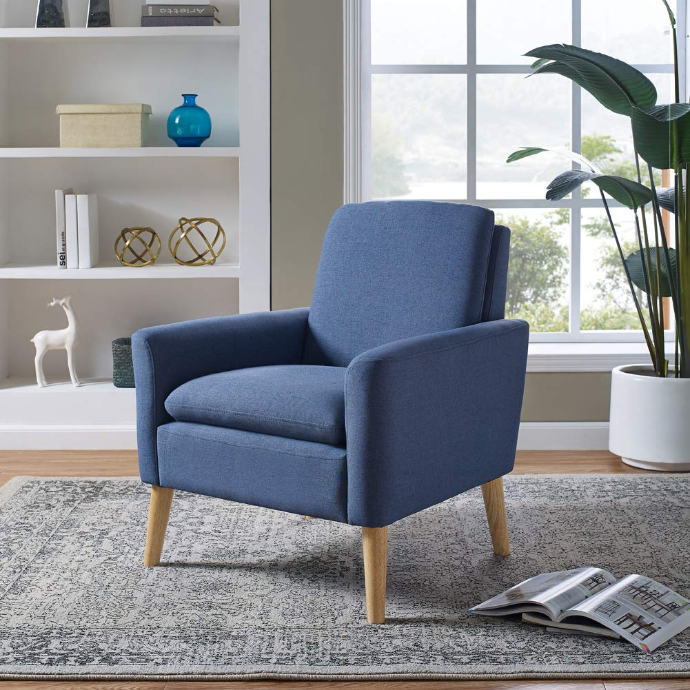 Sofa Arm Chair Accent Chair: Modern Accent Fabric Chair Single Sofa Comfy Upholstered