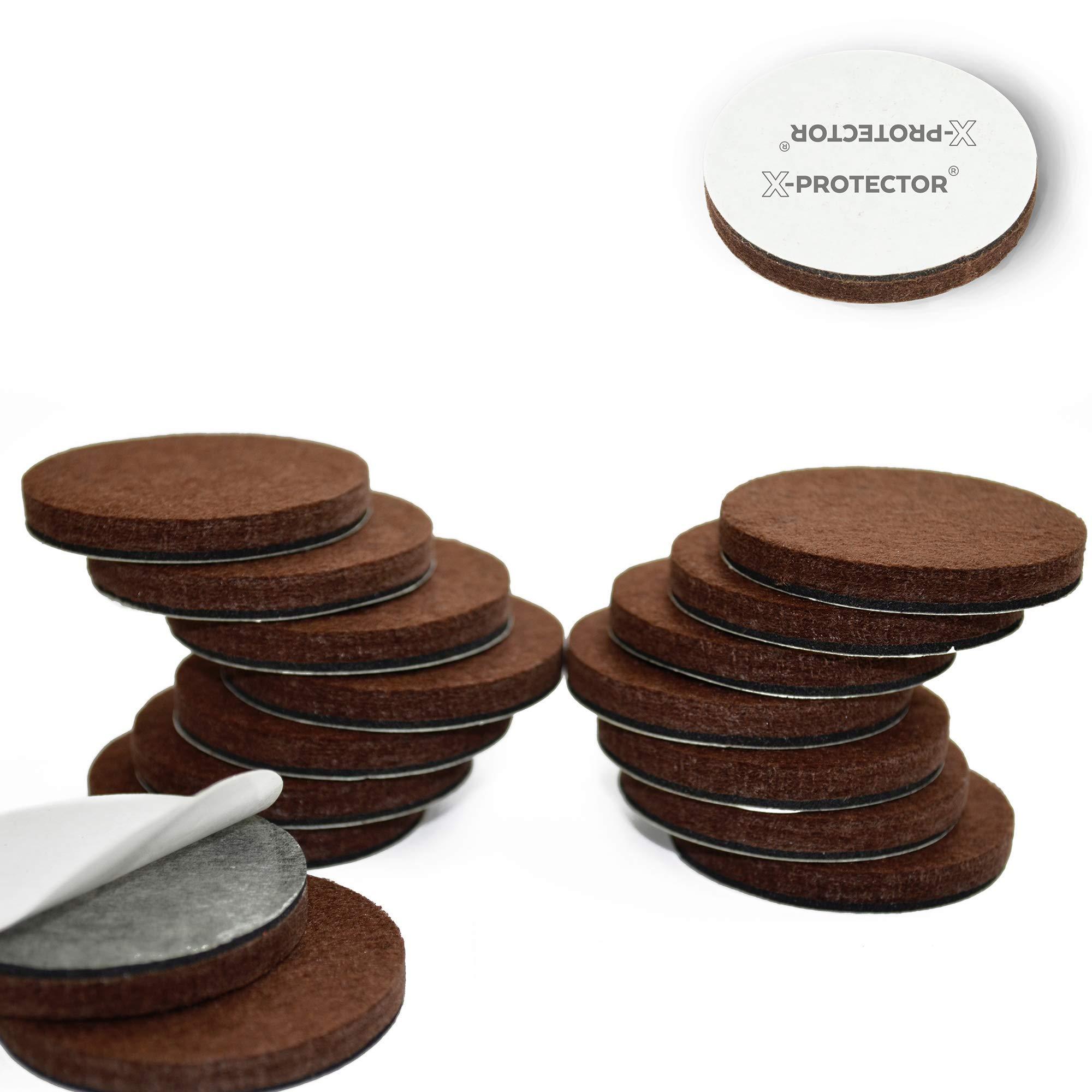"""X-Protector Premium 16 Thick 1/4"""" Heavy Duty Felt Furniture Pads 2""""! Felt Pads for Heavy Furniture Feet – Best Felts Wood Floor Protectors for No Scratches Sliders. Protect Your Hardwood Floor! by X-Protector"""