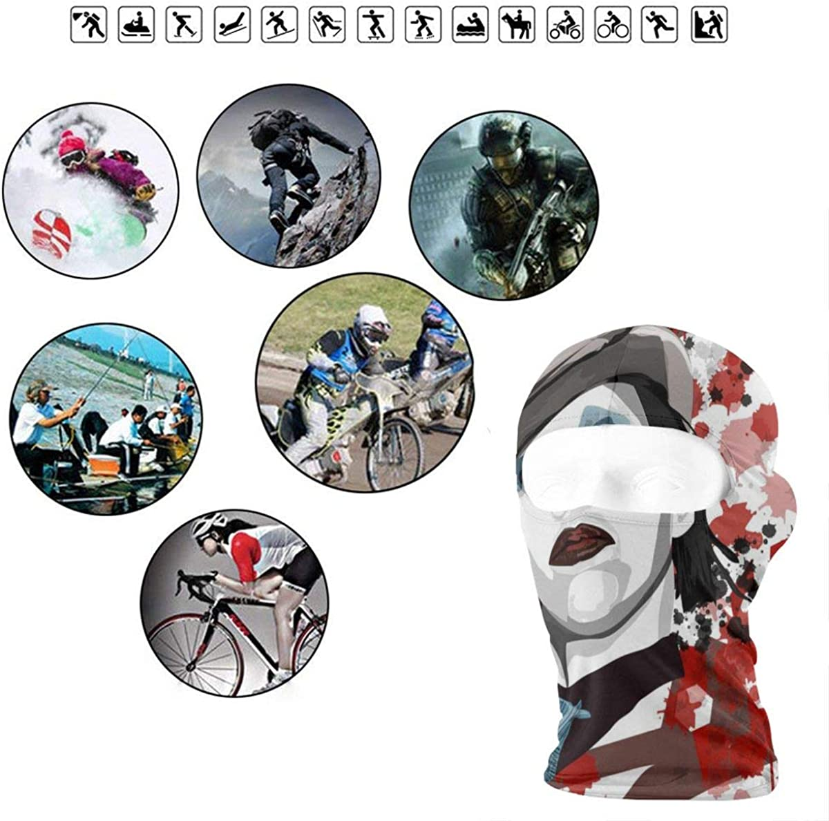 Marilyn Manson Soft Outdoor Sunscreen Hairband For Men And Women