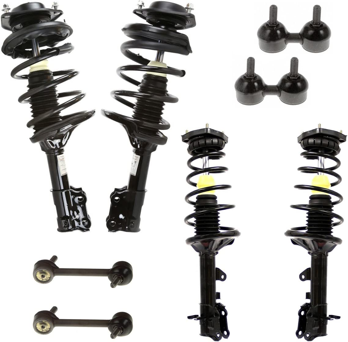 Detroit Axle 8PC Front and Rear Struts and Sway Bar Links for 2000-2006 Hyundai Elantra Produced After 6//2000