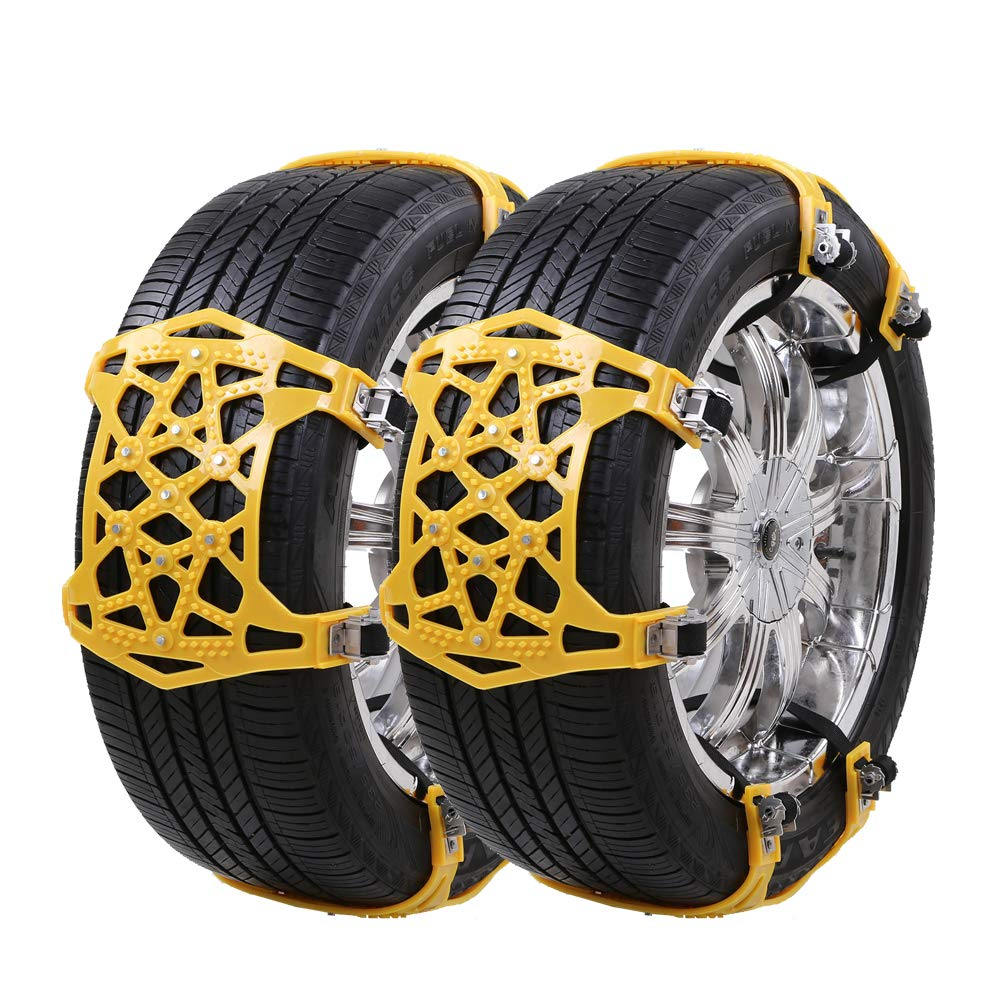 UniAuto Universal Schneeketten Einfach zu montieren Reifen Schneekette f/ür Jede Reifenbreite 165-285mm,6-teiliges Set, 2018 Upgrade Gelb