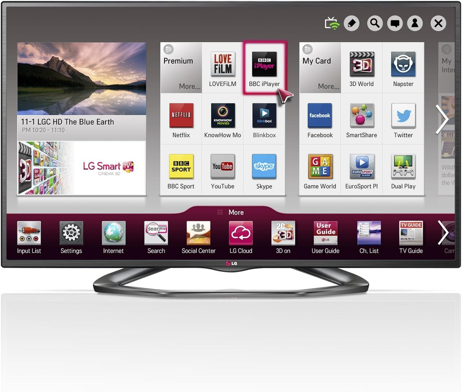 LG 47LA620V 47 Inch 3D LED Smart TV FHD Video Camera Ready WiFi ...
