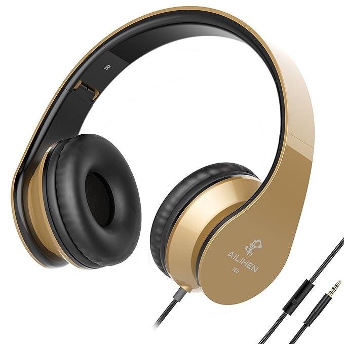 1 opinioni per AILIHEN I60 Cuffie con microfono Cuffie On Ear Pieghevoli per iPhone,