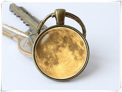 Beautiful Dandelion Llavero de luna amarilla con llavero de ...