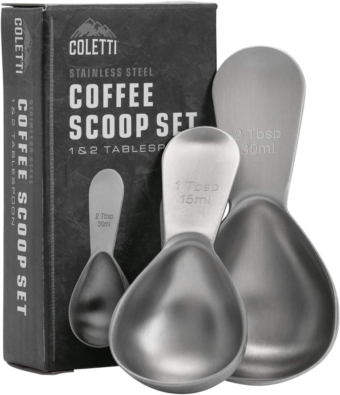 COLETTI Coffee Scoop | Coffee Measuring Scoop Set | Small Coffee Scooper