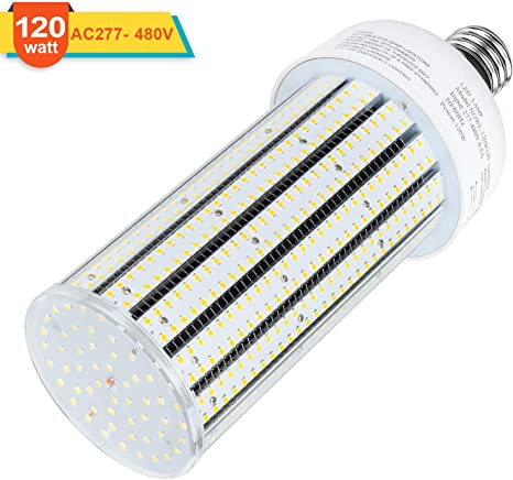 DLC 120W LED Corn Cob Bulb  Mogul Replace 400W MH Street Parking Lot Light 6000K