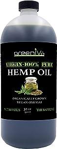 GreenIVe - Hemp Oil - Vegan Omegas - Cold Pressed - Exclusively on Amazon (32oz)