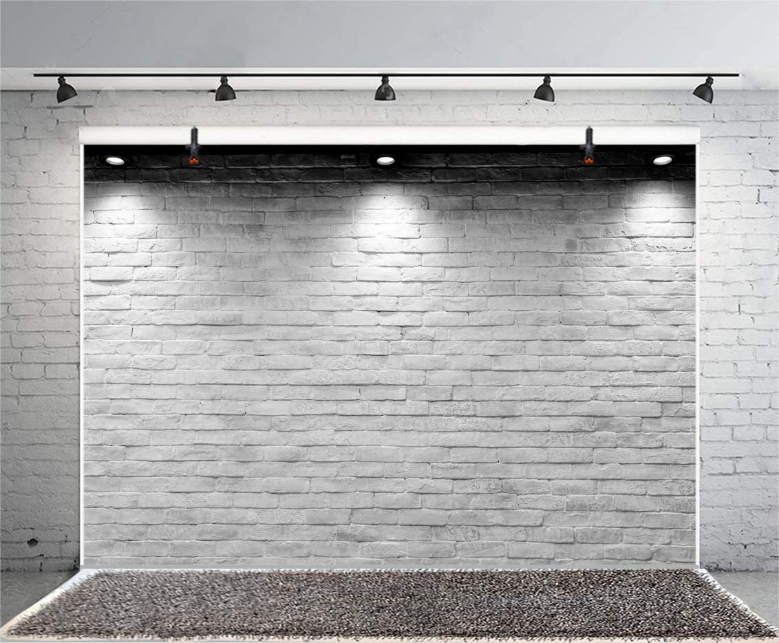 15x10ft Vinyl Photography Backdrops Outdoors Photo Background Trees and Black Stone Brick Wall Background Newborn Baby Children Adults Portrait Photo Booth Studio Prop Festivals Party Wedding