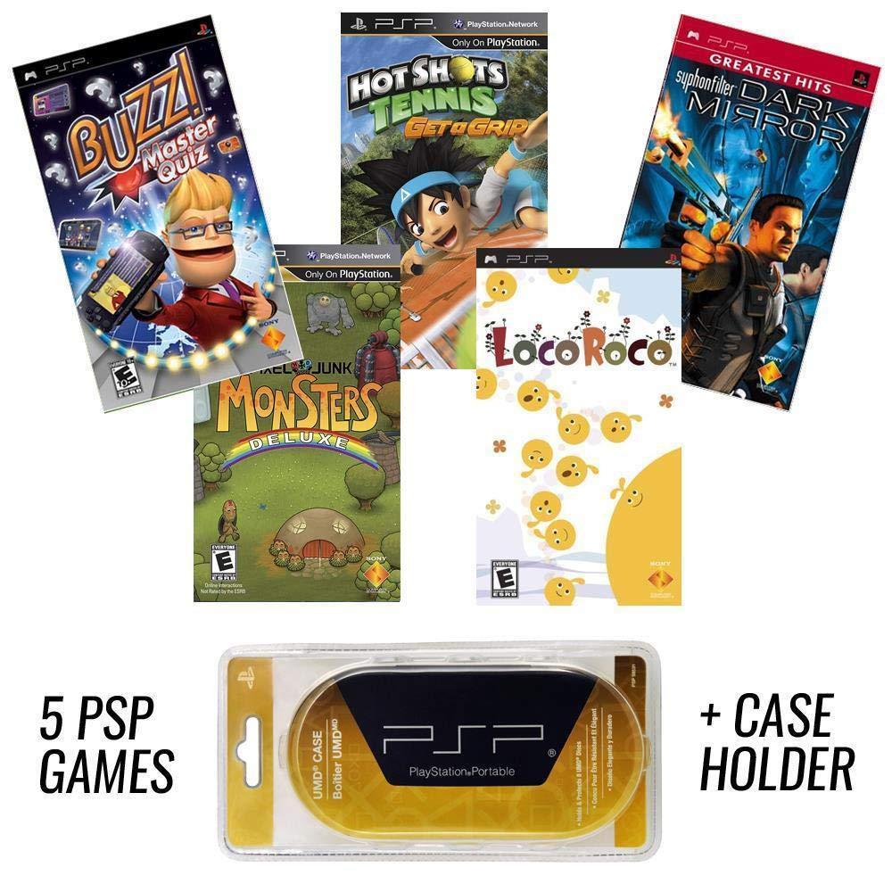 PSP MEGA 5 Game Bundle with UMD Case Holder