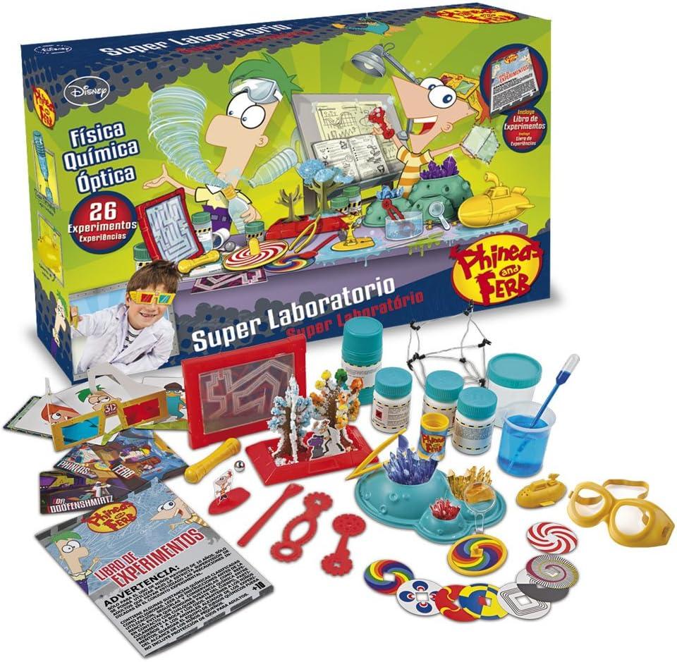 Giro Phineas & Ferb PF0002 - Super Laboratorio de Experimentos: Amazon.es: Juguetes y juegos