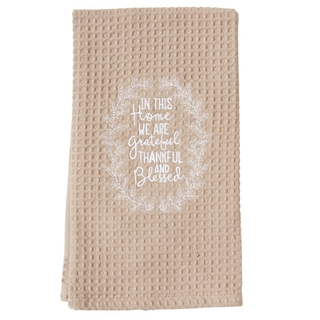 Mud Pie Turkey Ticking Linen Towel 4405162