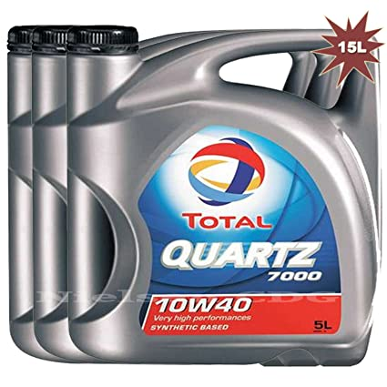 Total Quartz 7000 10w40 - Aceite para motor de gasolina/diese (3 x ...