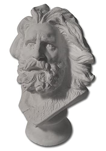 Torino Mini Marseilles and or Moses Head Plaster Cast Mannequin, Great for Artists, Artistic Piece, White, 4 X 4.5 X 7